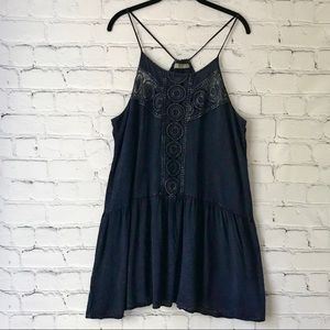 Finn and Clover Mini Dress Dark Blue Sleeveless